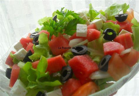cuisiner la salade verte salade verte à la pastèque et fromage feta la popotte de