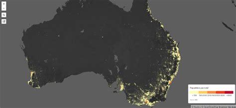 census bureau statistics maps mania the australian population map