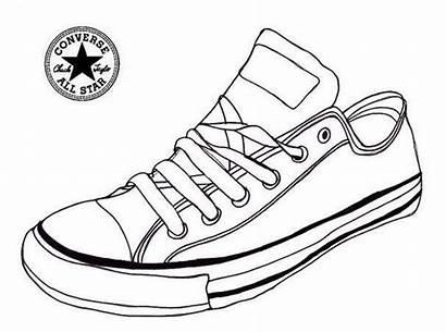 Coloring Tennis Shoe Pages Sneaker Converse Shoes