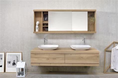 oak cadence miroir avec rangement by ethnicraft