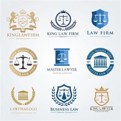 law firm logo icon vector design lawyer logo design set vector premium download