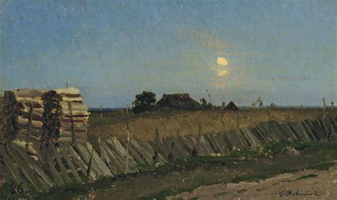Isaak Levitan (1860-1900) , Moonlit night. Logpiles ...