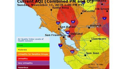 smoky air expected  remain  tuesday palo alto