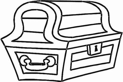 Treasure Chest Coloring Pages Pirate Box Empty
