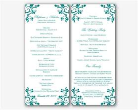 wedding program templates free wedding program templates word best business template