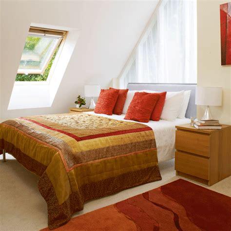 Earthy Tones Guest Bedroom  Warm Bedrooms Bedspread