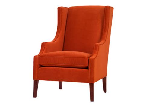 cococozy an orange wingback chair