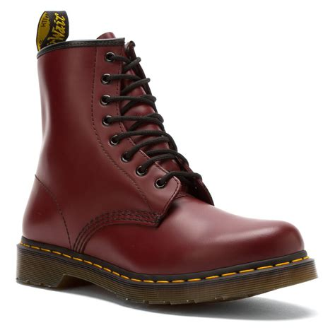 martens womens   cherry red smooth boot  ebay