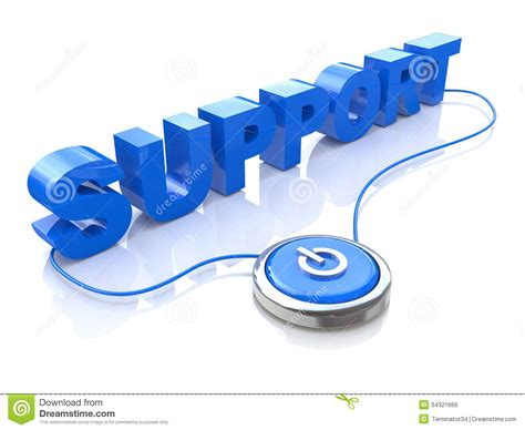 support stock illustration illustration of computer 34321669