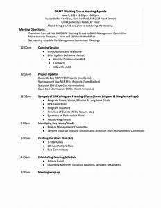 sample business meeting agenda working group meeting agenda templates at