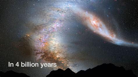 Milky Way Versus Andromeda Seen From Earth Youtube