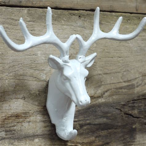 white stag head coat hook