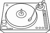 Dj Turntable Record Drawing Table Turntables Line Clip Clipart Player Coloring Turn Mixer Vinyl Transparent Background Cliparts Phonograph Sweetclipart Jockey sketch template