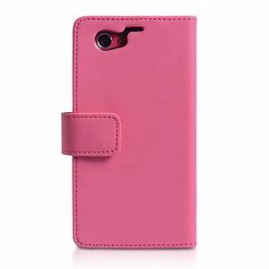Sony Xperia Z1 Compact Leather-Effect Wallet Case - Hot Pink