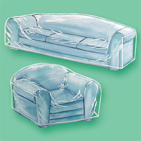 clear plastic see thru heavy duty chair cover living