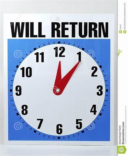Return Sign Clock Break Dreamstime