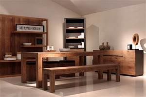 decoration zen pour salle a manger With deco cuisine avec meuble buffet salle À manger