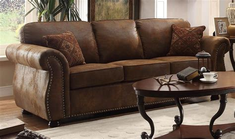 furniture lovely brown microfiber couch  superb color