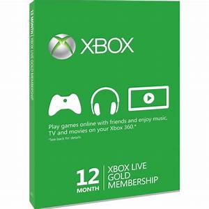 Xbox Live Gold 12 Months Membership Card Xbox 360 And Xbox