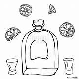 Whiskey Drawing Shot Glass Brandy Sketch Getdrawings sketch template