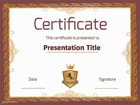 certificate template powerpoint free powerpoint templates themes ppt
