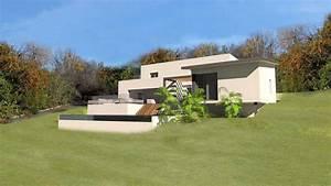 plan de maison sur terrain en pente plans de maisons d With surface d une maison 4 toitures monopentes et volumes simples pour cette