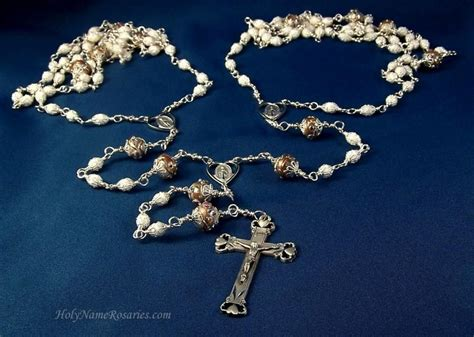 Lazo Wedding Rosary Lasso Laso Custom Made To Order White