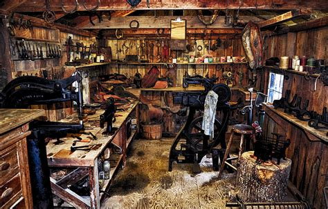 Hobart's Leather Shop Photograph by Paul Mashburn
