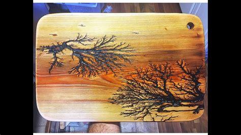 satisfying electric lichtenberg fractal wood shocking
