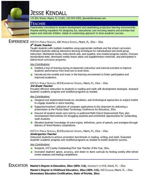 Teachers Resume 2017 by Find Your Best Resume Sles 2016 Resume Sles 2017