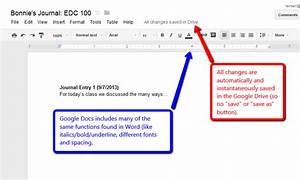 Student Journals Using Google Docs