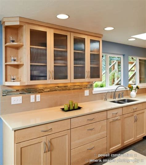 natural maple kitchen cabinets granite decorating ideas