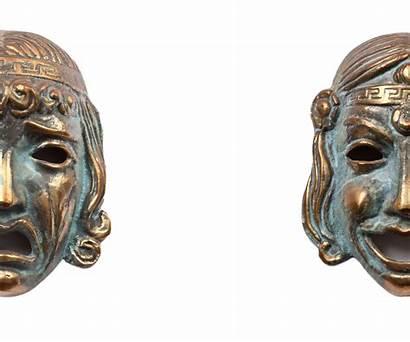 Masks Drama Mask Tragedy Thalia Melpomene Greek