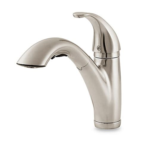 price pfister pull out kitchen faucet buy price pfister 174 parisa pull out kitchen faucet in stainless steel from bed bath beyond