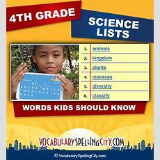 4th Grade Science Vocabulary  Fourth Grade Science Words Vocabularyspellingcity