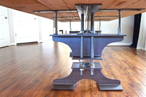 pretty dubs diy  beam dining table rustic  industrial
