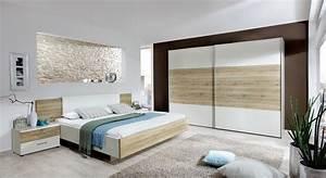 Komplett schlafzimmer mit eiche nachbildung dekor swansea for Komplett schlafzimmer