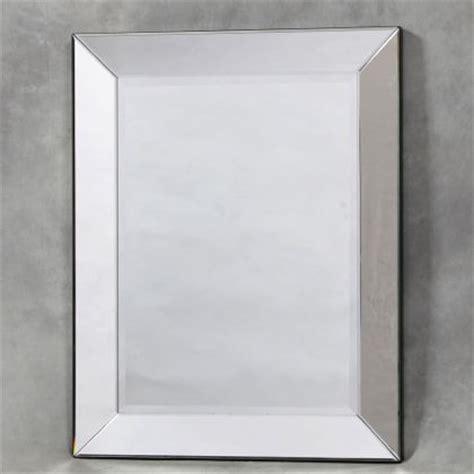 plain square venetian mirror frameless bevelled mirror