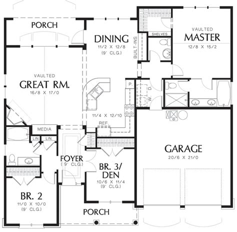 Cottage Style House Plan 3 Beds 2 5 Baths 1580 Sq/Ft