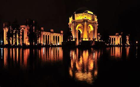 palace  fine arts night panorama san francisco ca