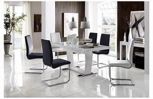 Table et chaises de salle a manger design for Meuble de salle a manger avec chaise de salle À manger design pas cher