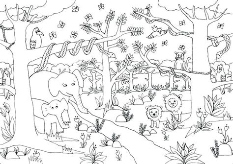 jungle coloring pages animal coloring pages jungle coloring pages zoo animal coloring pages