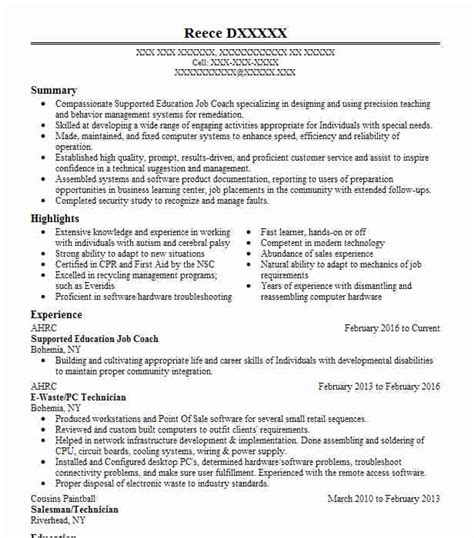 Special Education Resume by Special Education Resume Exle Nyc Department