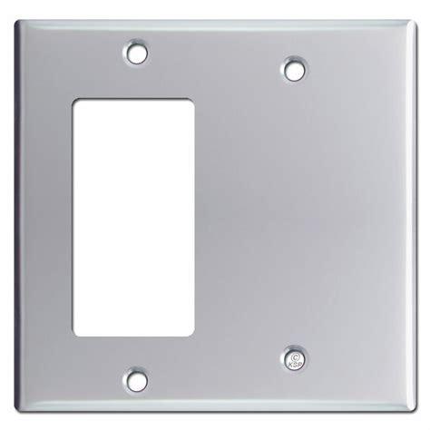 decora gfi blank  gang switch plate covers polished chrome