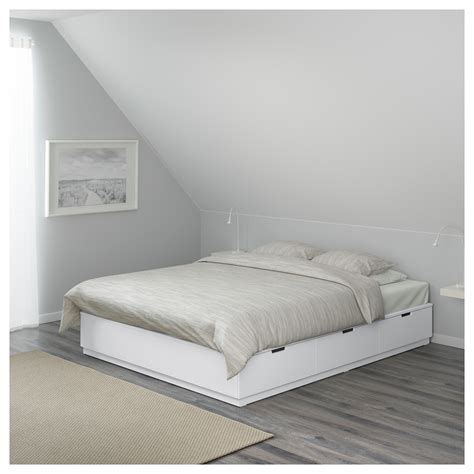 canapé lit 140x200 nordli bed frame with storage white 140x200 cm ikea
