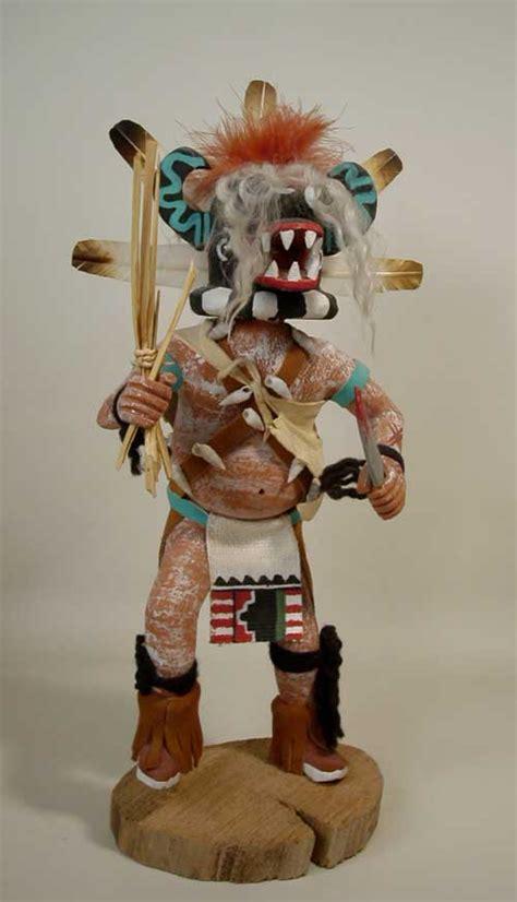hopi black ogre katsina doll  george pooley kachina