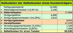 2 Skonto Berechnen : zuschlagskalkulation selbskostenkalkulation einfach ~ Themetempest.com Abrechnung
