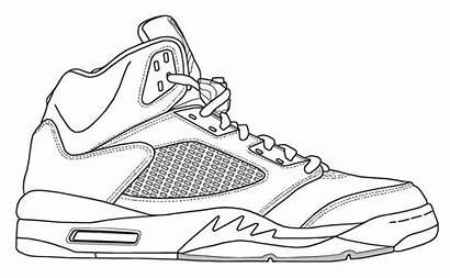 Jordan Coloring Air Shoe Nike Jordans Sheets