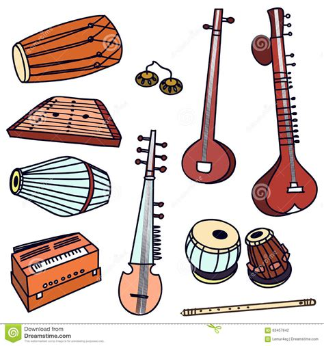 Browse and download hd indian musical instruments png images with transparent background for free. Vector indian instruments stock vector. Illustration of ...