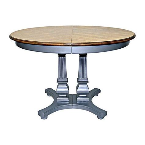 Extending lifting coffee table extends to seat up 8 guests. Federal Extendable Round Dining Table | Chairish